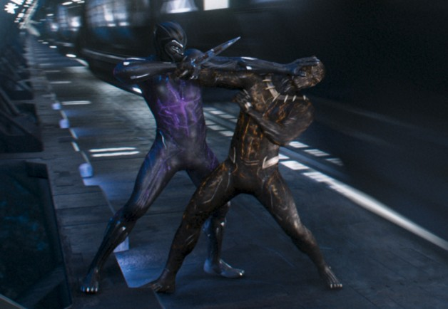 Even in the final battle scene, I think that Killmonger's (right) Golden Jaguar suit is better than T'Challa's  (left) Black Panther.