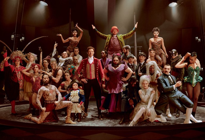 The cast of The Greatest Showman.